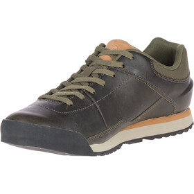Merrell Burnt Rocked Leren Schoenen Heren, dusty olive